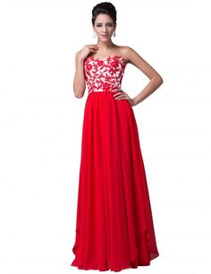 Grace Karin Floor Length Strapless Sweetheart Evening Prom Party Dress with  Applique -  138.94. High Low Prom DressesPlus ... c0a8860249f9
