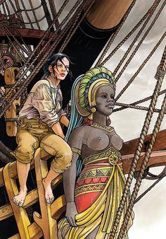 """""""Les passagers du vent - Le bois d'ébène"""" par François Bourgeon"""