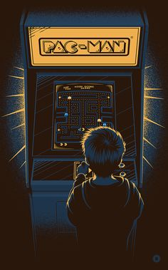 PAC-MAN Bandai 35th Anniversary Poster by TommyPocket
