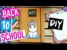 DIY Back To School Facile : Fournitures Scolaires LICORNE (français) - YouTube