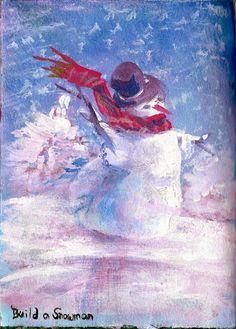 Life Imitates Doodles: Journal52 Prompt 48: Build a Snowman #Journal52 #ArtJournal #ArtJournaling