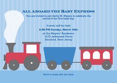 Baby boy baby shower invitation for ModernGreetings.com