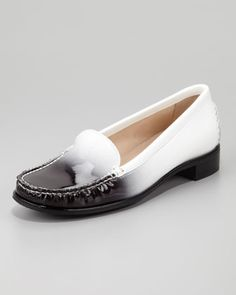 Ombre Patent-Leather Loafer  by Stuart Weitzman at Neiman Marcus.