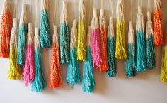 Melbourne-basedOuch Flowercreate hand made decorative tassels out of leftover macrame twine, dip dyed to perfection for our ombre obsession.