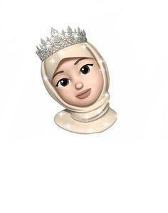 Girl Cartoon, Cartoon Art, Mode Ulzzang, Hijab Drawing, Girly M, Girl Emoji, Islamic Cartoon, Emoji Pictures, Panda Art