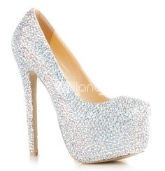 Sparkly High heels Crystal Wedding shoes Clear rhinestone Wedding ...