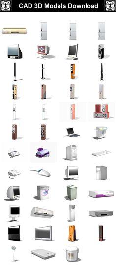 Appliances 3D Cad Models – CAD Design | Free CAD Blocks,Drawings,Details