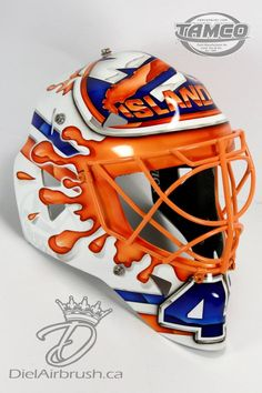 Halak Pays Homage To Curtis Joseph On Isles Mask - The Goalie ...