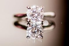 The bride wore no jewelry except for her Cartier engagement ring
