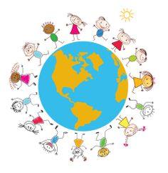 Wszystkim dzieciom życzymy dziś dużo uśmiechu, radosnych zabaw i pięknego Dnia Dziecka! :) A dorosłym dzieciom chwili zapomnienia ;) Bible Art, Children, Kids, Africa, Around The Worlds, Clip Art, Diversity, Montessori, Logo