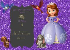 Sofia the First Birthday Invitation by MiabbyDesigns on Etsy