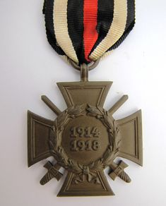 WW1 Germany German Hindenburg Honour Cross With Swords Marked JK in Triangle - The Collectors Bag