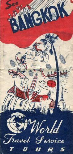 bangkok #vintage thailand #travel guide tiki style brochure from $4.99