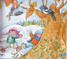 Praatplaat voor kleuters, vogels in de winter