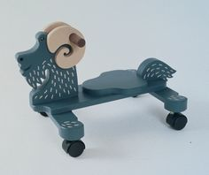 Push Goat Wooden Toy Plan | Playful Plans by Kevin McGuire