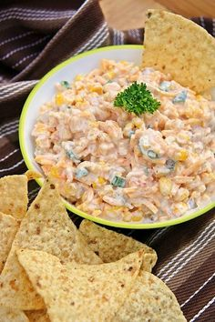 Cowboy Corn Dip: 3 cans sweet corn with diced peppers, drained (also called Fiesta corn...11 oz each) 1 can chopped green chilies (7 oz) 1 can chopped jalapeno peppers, drained (6 oz) 1/2 cup green onions, chopped 1 cup mayonnaise 1 cup sour cream 1 teaspoon pepper 1/2 teaspoon garlic powder 1 package shredded sharp cheddar cheese (16 oz) 2-3 bags of Frito Scoops.