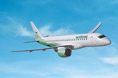 O Embraer E190-E2 será o primeiro avião com motores a jato da Widerøe (Divulgação)