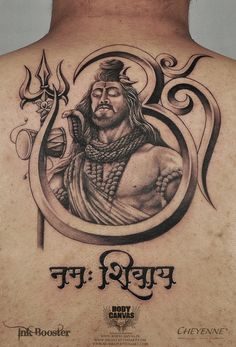 Shyam Waghmare is our Professional Tattoo Artist who is Shiva Tattoo Specialist at BodyCanvas. Check these Shiva Tattoo Designs and Ideas. Bholenath Tattoo, Smal Tattoo, Ganesha Tattoo, God Tattoos, Body Art Tattoos, Hanuman Tattoo, Tatoos, Om Trishul Tattoo, Trishul Tattoo Designs