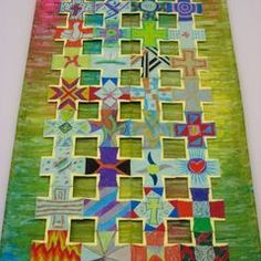 Each person decorates a cross.  All the crosses are put together to form one large piece of artwork.: