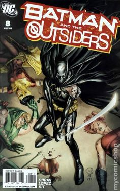 Batman and the Outsiders (2007 2nd Series) 8  DC comics cover Dark Knight Batman
