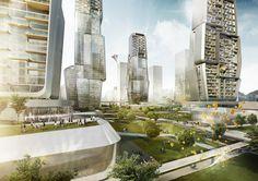 futuristic look At Yongjia World Trade Centre - futuristic look