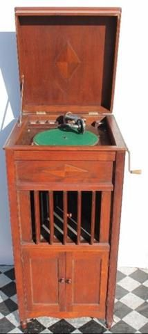 Vintage Wind Up Record / Vinyl Player spring that winds up needs to be checked out  as it is not working at the moment with the records in the cabinet @R5000 Call 0767064700