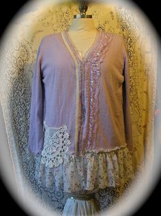 Tattered lace embellishments for dresses