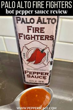 Palo Alto Firefighters Pepper Sauce features fresh red jalapeño peppers in a really delicious way, and that's without any ingredient-listed salt. Instead, the sugar sweetness seems to pull out the flavor from these naturally sweeter red jalapeños. #peppersauce #hotsauce #hotsaucereview #pepperscalereview Pepper Scale, Taco Bell Sauce, Chipotle Recipes, Red Jalapeno, Spicy Aioli, Hot Sauce Recipes, Hot Pepper Sauce, Stuffed Poblano Peppers, Homemade Sauce