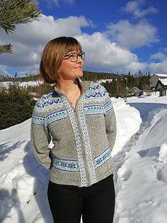 Ravelry: Petrakofta pattern by Anne Kjerstin Heggdal Punto Fair Isle, Knitting Machine Patterns, Fair Isle Knitting, Ravelry, Knitwear, Bomber Jacket, Petra, Stitch, Sweaters
