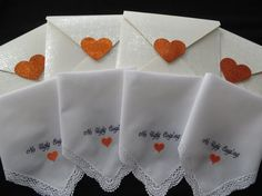 No Ugly Crying. Wedding Handkerchief Gift. by elegantmonogramming