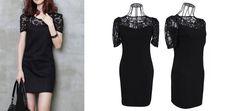 18€ για ένα νεανικό μαύρο φόρεμα, σε μοντέρνα γραμμή, με δαντέλα στο μπούστο, για εντυπωσιακές εμφανίσεις και με ΔΩΡΕΑΝ πανελλαδική αποστολή, από το NoPants Elinor! Αρχική αξία 36€ Black, Dresses, Fashion, Vestidos, Moda, Black People, La Mode, Fasion, Dress