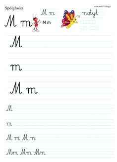 LITERKA M | BLOG EDUKACYJNY DLA DZIECI Polish Language, Worksheets For Kids, Montessori, Classroom, Teaching, Education, Class Room, Kids Worksheets, Activity Sheets For Kids