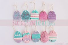 Baking Soda Easter Eggs. Such a fun Easter Craft!