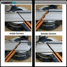 Crown Molding - How to cut the corners with your miter saw. This was a life saver.