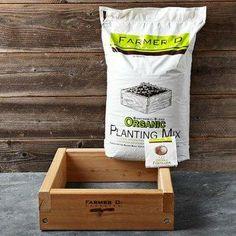Farmer D Organics Cedar Starter Box Set For Herb Garden Without A Bottom