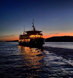 A Freshwater class ferry off Middle Head, Sydney Harbour