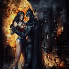 """Good afternoon Gothamites and have a magnificent Monday! Today we will continue our chronological journey of the Batman with more Batman comics and media from the beginning of the year 2012! To kick off this week, here is a Batman and Wonder Woman work titled ""Gold"" by illustrator Jasric @JasricArt! Although many fans have wanted to see the Dark Knight and the Amazonian Princess as an item, Batman and a Wonder Woman in comics only had a romantic moment in 2003's JLA 80 but Diana decided…"