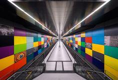 de metro van München.