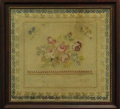 "A Beautiful 19th Century Spanish Sampler Inscribed ""Por Gugenia Alonso"""