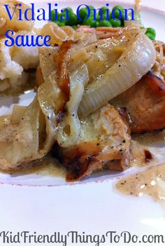 Vidalia Onion Sauce Recipe - perfect on just about anything you want to put it on! Delicious on grilled pork and steak!