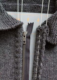 Как вшить молнию в вязаное изделие: простой и оригинальный способ