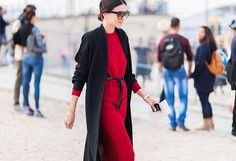 Day 11: Cinch a loose dress at the waist for a slenderizing fit. via @WhoWhatWear
