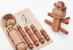 Rompecabezas 3D mono de madera de juguete de los niños