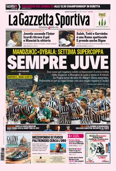 9 agosto 2015 - Supercoppa Italiana Juventus Fc, Liverpool Fc, Ronaldo, Soccer, Sports, Game, Cute Pictures, Posters, Football Soccer