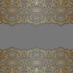 Seamless golden border vector material