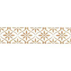 Border Stencil | Daisy Chain Wall Stencil | Royal Design Studio