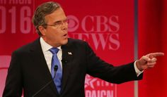Republican presidential candidate, former Florida Gov. Jeb Bush responds to Republican presidential candidate, businessman Donald Trump. (AP Photo/John Bazemore)