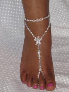 Beach Wedding Starfish Barefoot Sandals Foot by SubtleExpressions, $32.00 @@@.....http://www.pinterest.com/queend65/diamond-feet/