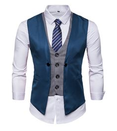 Golf Wedding >> DONSON Mens Business Suit Vest with Neck Tie Slim Fit Waistcoat for Men -- Learn even more about the fantastic product at the photo web link. (This is an affiliate link). Mens Fashion Wear, Suit Fashion, Fashion Pants, Western Outfits, Mens Double Breasted Blazer, Nigerian Men Fashion, Mens Suit Vest, Stylish Mens Outfits, Business Casual Men