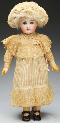 Early Kestner Child Doll....I LOVE antique dolls like this one (by Kestner)